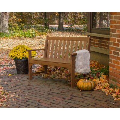 Super Polywood Vineyard Plastic Garden Bench Size 48 Inch Color Teak Cjindustries Chair Design For Home Cjindustriesco