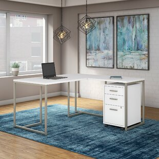 Kathy Ireland Office by Bush Method 2 Piece L-Shaped Desk Office Suite
