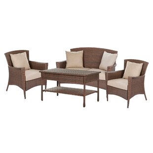 Rude Garden Patio 4 Piece Sofa Seating Group with Cushions