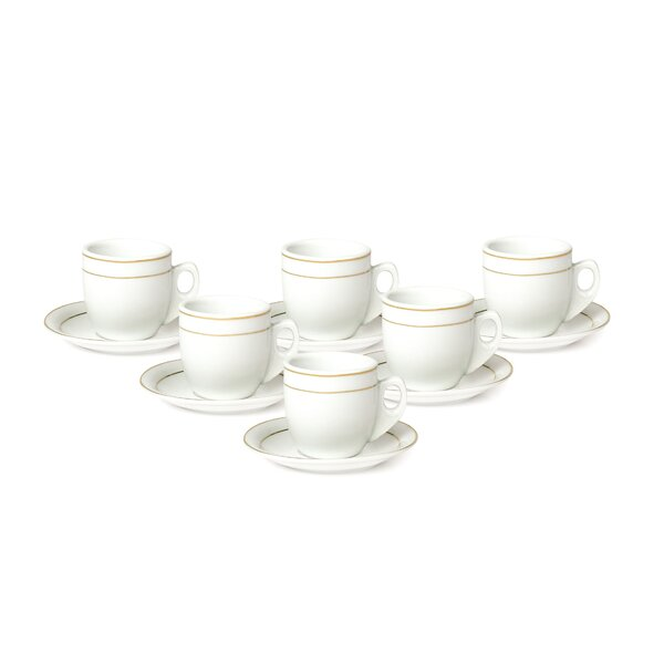 Nespresso Professional Collection Large Saucers X4 White Porcelain