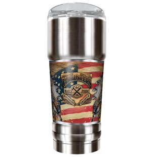 Carpenter Backbone of America 32 oz. Stainless Steel Travel Tumbler