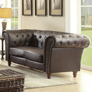 Renhold Chesterfield Rolled Arms Loveseat by Willa Arlo Interiors