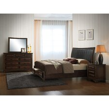 Broval Platform 4 Piece Bedroom Set by Roundhill Furniture
