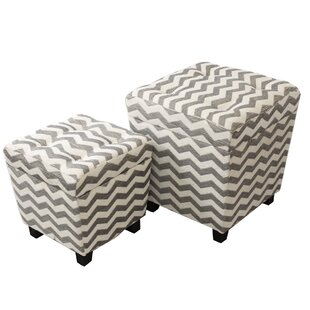 Urban Designs 2 Piece Storage Ottoman Set by EC World Imports