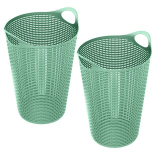 Rebrilliant 70 Liter Flex Wicker Laundry Hamper (Set of 2)