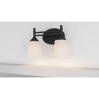 Winston Porter Pickens 2 Light Matte Black Vanity Light Wayfair