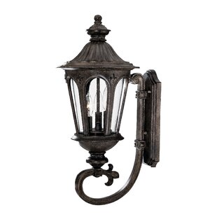 Price comparison Mukai 3-Light Outdoor Sconce By Beachcrest Home