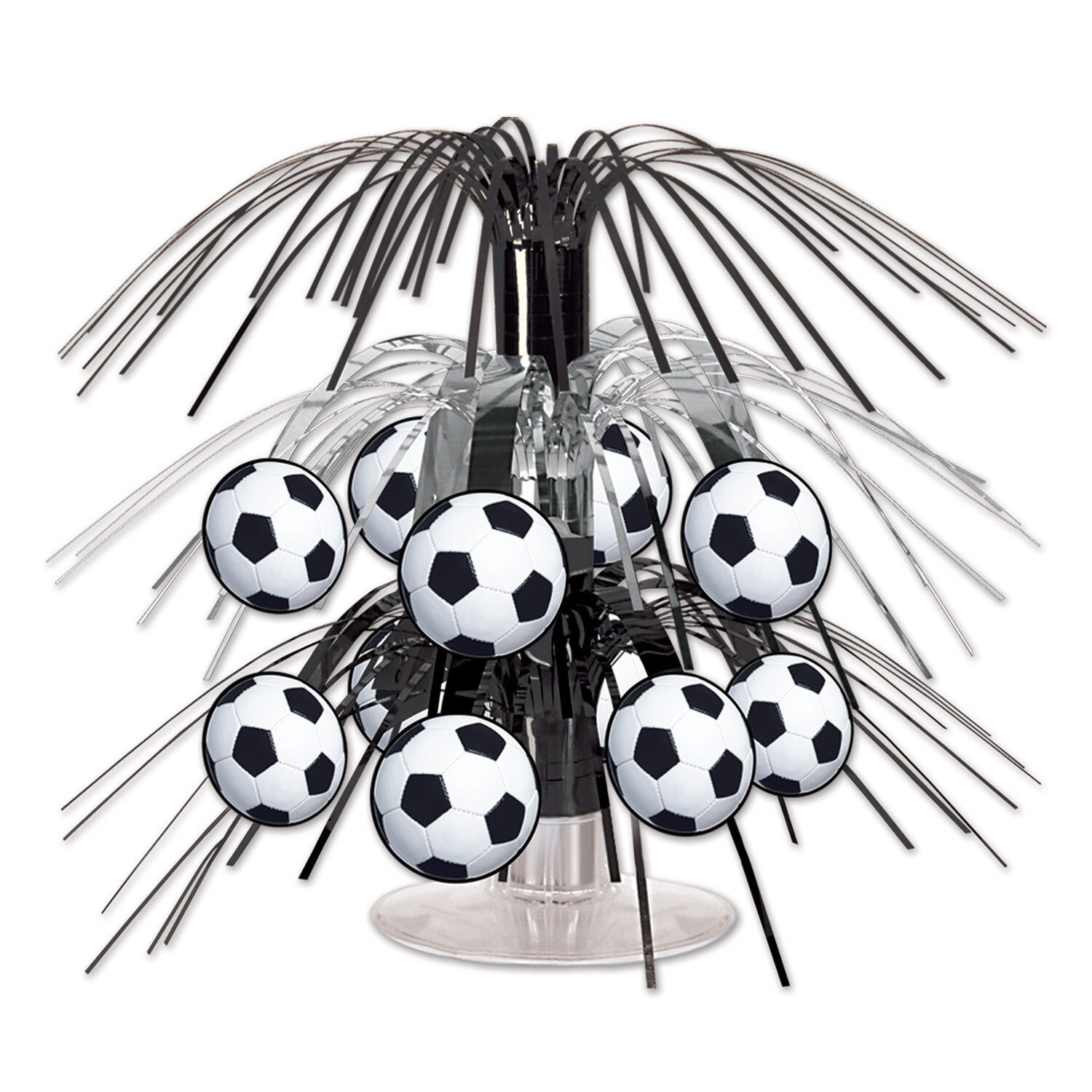 Can be turned into cupcake derorations. 24 Soccer ⚽️ themed table scatters