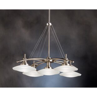 Latitude Run Masontown 5-Light Shaded Chandelier