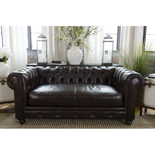 Darby Home Co Fiske Leather Chesterfield Sofa U0026 Reviews | Wayfair