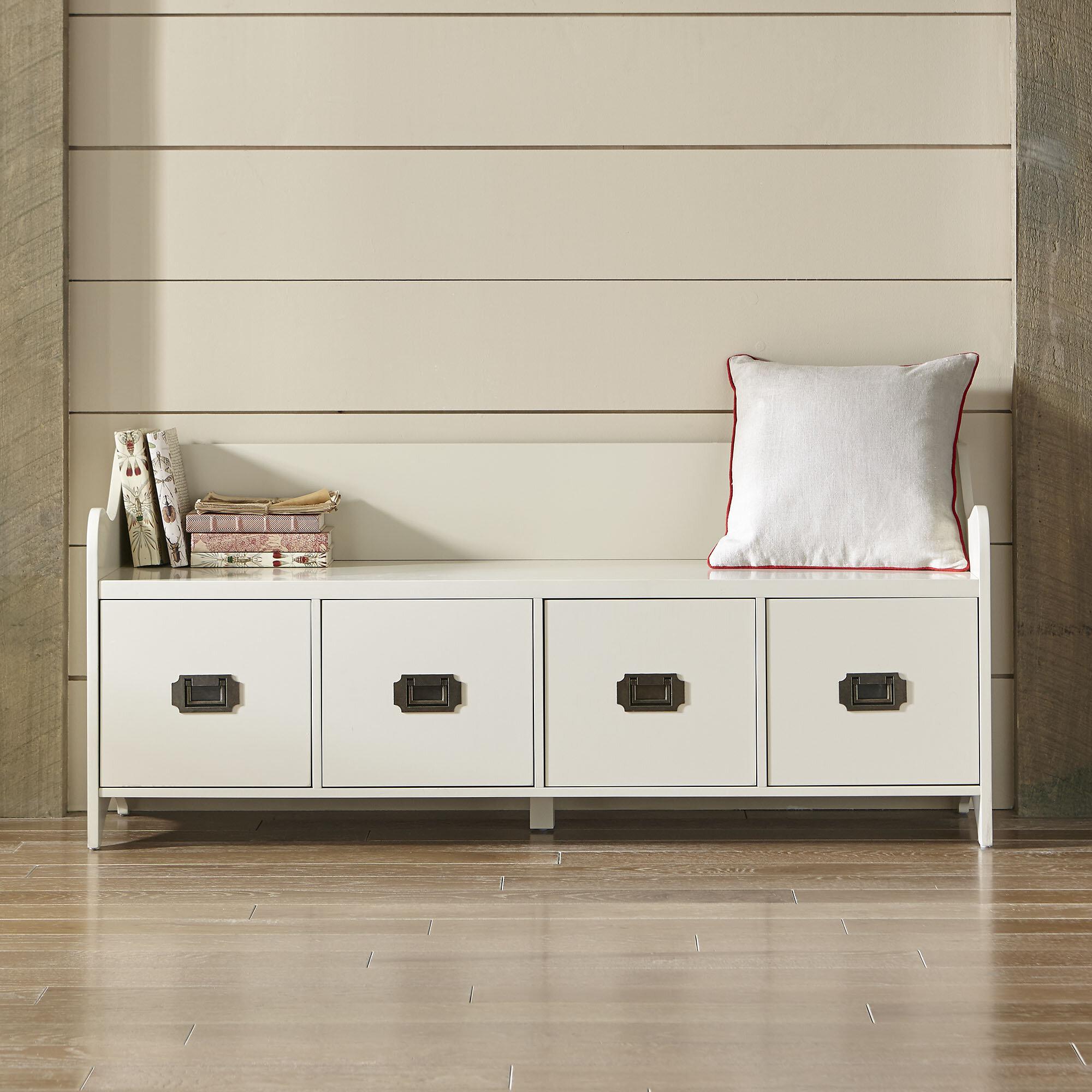 Varian Upholstered Storage Bedroom Bench Birchlane: Birch Lane™ Edwards 4-Drawer Storage Bench & Reviews