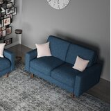 Sherry 53 Square Arm Loveseat by George Oliver