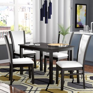 Ontonagon Modern and Contemporary 5 Piece Breakfast Nook Dining Set Orren Ellis