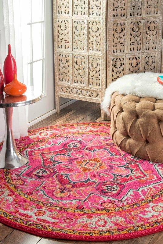 Mistana Clarke Pink Area Rug & Reviews | Wayfair