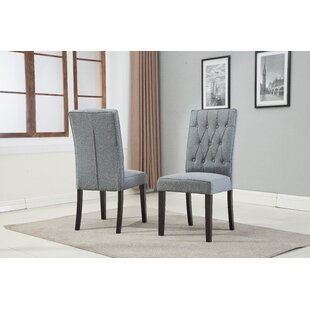 Hillen Upholstered Dining Chair (Set of 2) by Alcott Hill