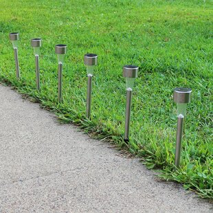 Deandra Outdoor Solar 1-Light LED Pathway Light (Set of 6) (Set of 6)