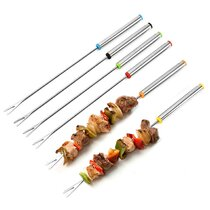 Kebab Hygienic Flat /& Square Skewers Stainless Steel Sturdy BBQ Chicken lamb.