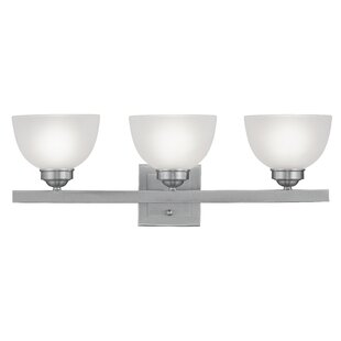 Affordable Price Irwin Bowl Shade 3-Light Vanity Light By Alcott Hill