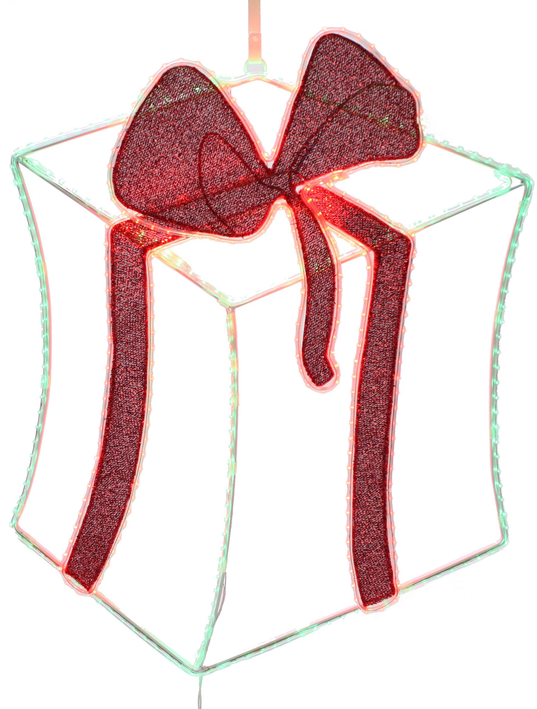 dyno seasonal solutions pre lit 2 d led gift box christmas