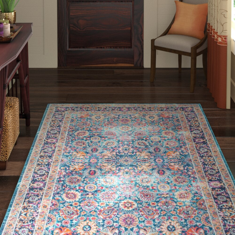 Blue World Menagerie Kitchen Rugs You Ll Love In 2021 Wayfair