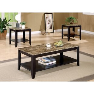 Clary 3 Piece Coffee Table Set Fleur De Lis Living Reviews ...