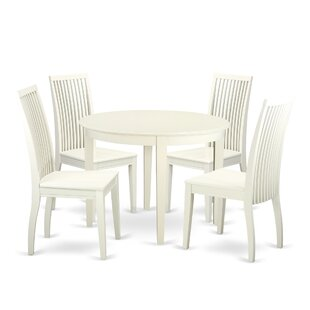 Hillhouse 5 Piece Solid Wood Dining Set by Red Barrel Studio