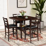 Angielina 5 - Piece Counter Height Dining Set by Red Barrel Studio®