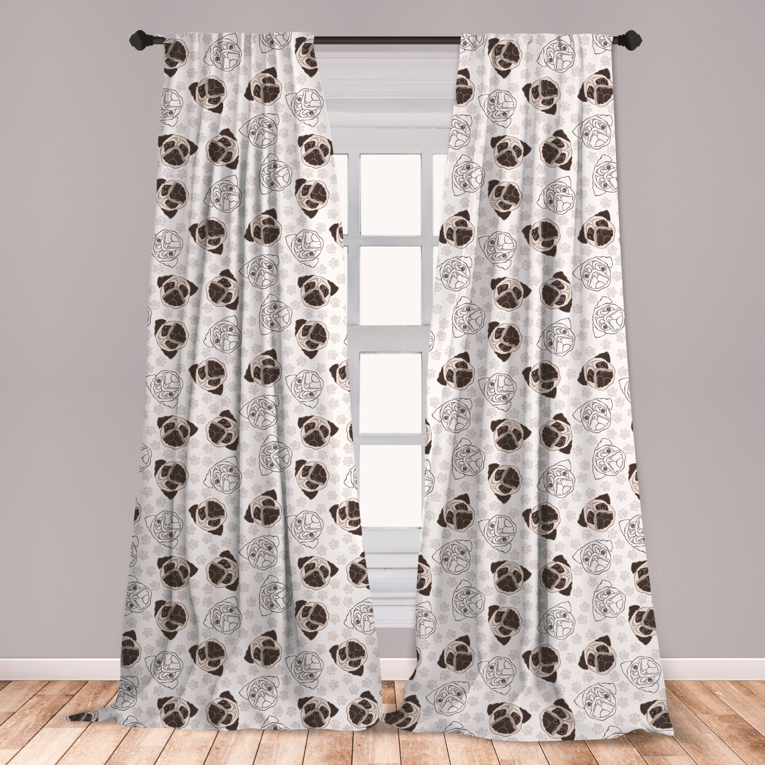 Valance Curtain Panel Tie Back Wildlife Pillow Cover
