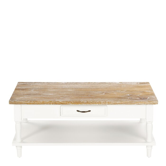 Roseline Solid Wood Coffee Table With Storage