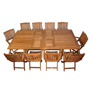 Bullock 11 Piece Teak Dining Set