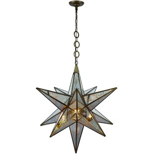 Bungalow Rose Chemaia Traditional 1-Light Geometric Pendant