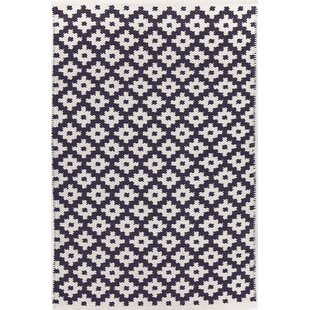 Best Samode Hand-Woven Blue/White Indoor/Outdoor Area Rug ByDash and Albert Rugs