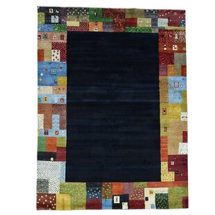Compare One-of-a-Kind Rossman Folk Hand-Knotted Black Area Rug ByLoon Peak