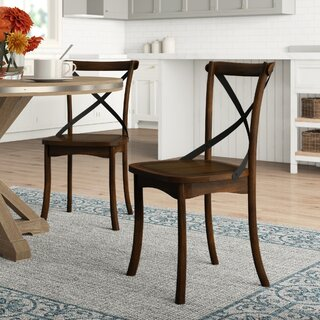 Aguon Solid Wood Dining Chair (Set of 2) by Three Posts SKU:EA519650 Details