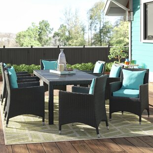 Brentwood 9 Piece Outdoor Patio Dining Set with Cushions