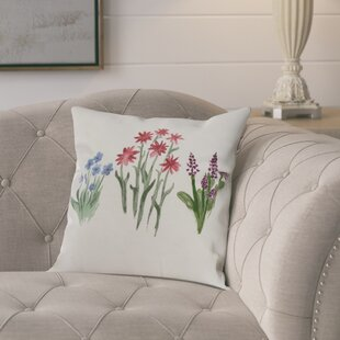 Kaylor Flower Trio Indoor/Outdoor Throw Pillow