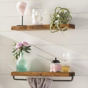 Laurel Foundry Modern Farmhouse Drew 2 Piece Wall Shelf Set