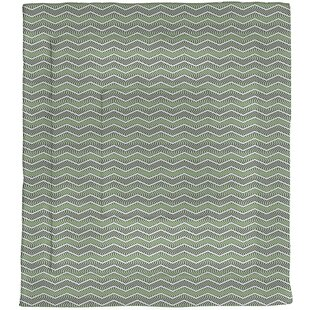 Bookman Wavy Chevrons Microfiber Single Reversible Comforter by Brayden Studio