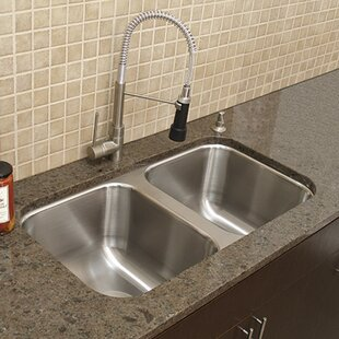 A-Line by Advance Tabco Double Bowl Undermount Kitchen Sink