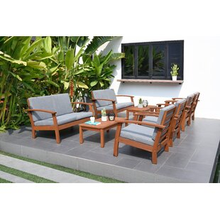 7 8 Person Teak Patio Conversation Sets You Ll Love In 2020 Wayfair