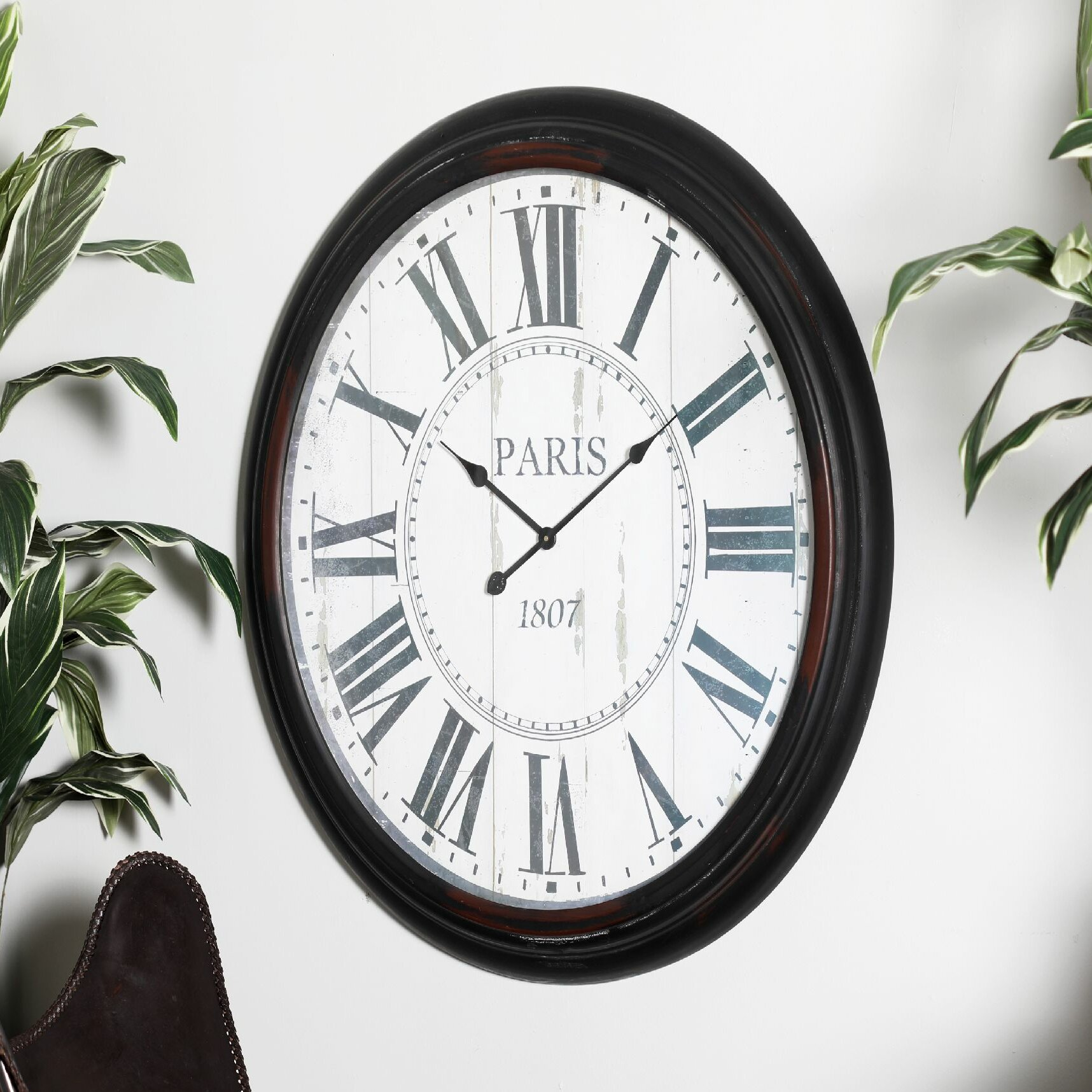 Ophelia Co Oversized Garrett Metal Wall Clock Reviews Wayfair