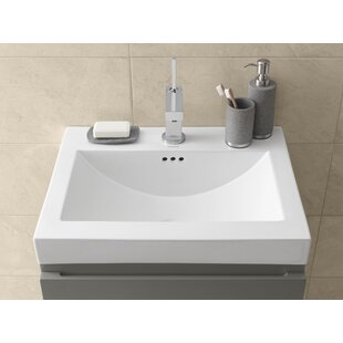 Ronbow Ronbow Ceramic Rectangular Vessel Bathroom Sink with Overflow