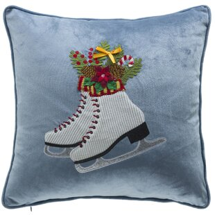 Holiday Skates Throw Pillow