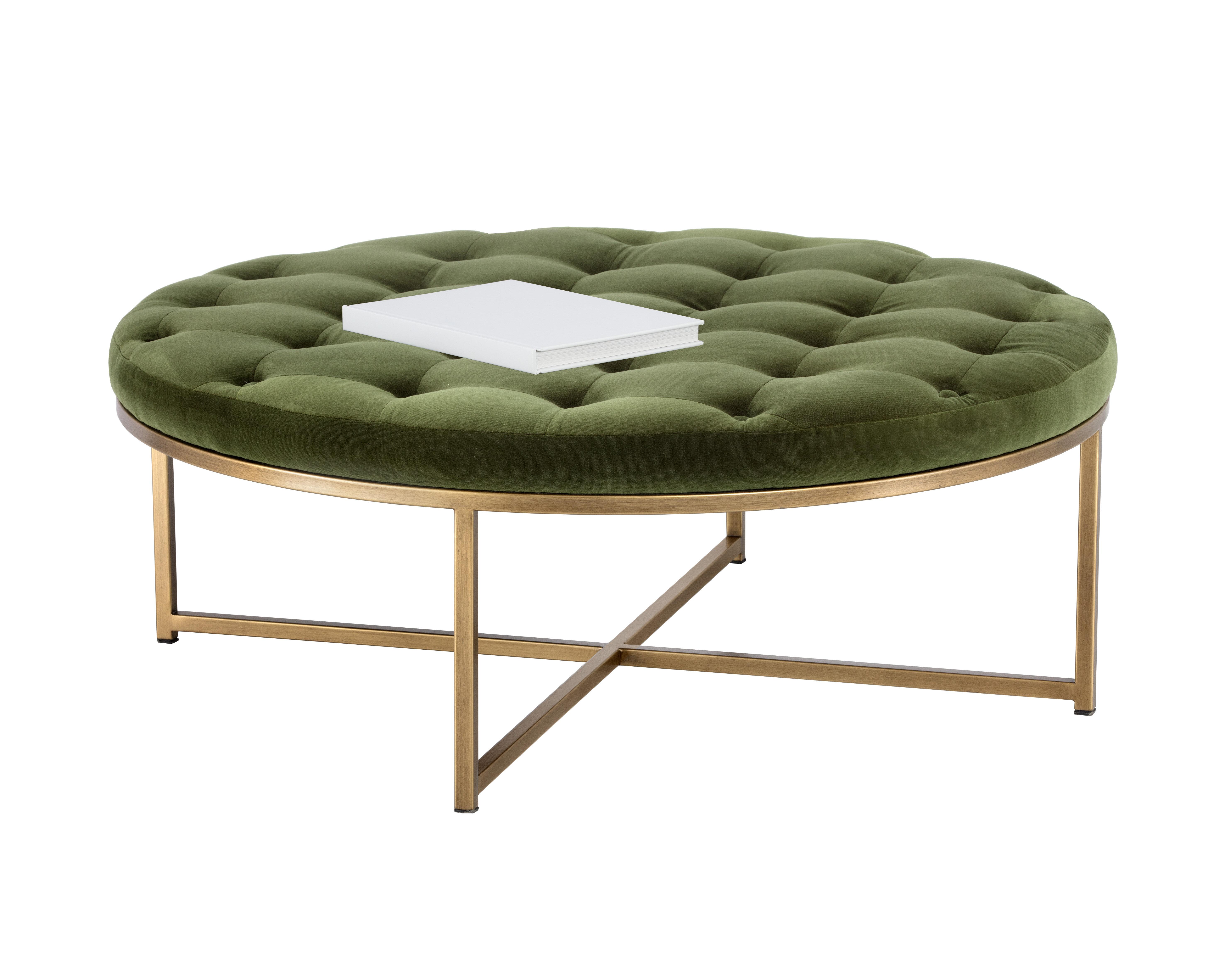 Tremendous Endall Round Tufted Ottoman Bralicious Painted Fabric Chair Ideas Braliciousco