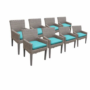 Florence Patio Dining Chair with Cushion (Set of 8)