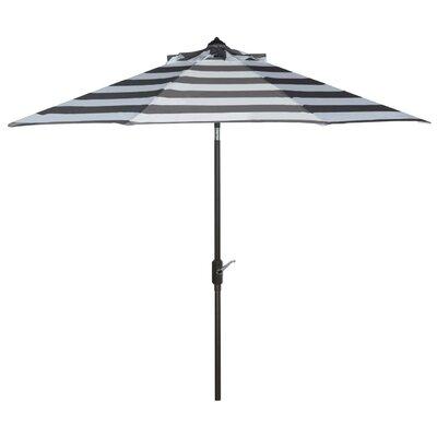 Breakwater Bay 9' Market Umbrella Fabric Color: Grey/White