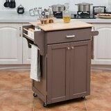 Zialan Rolling Kitchen Cart by Red Barrel Studio®