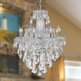 Astoria Grand Pulaski 12-Light Candle Style Chandelier