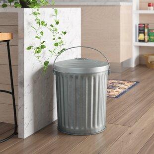 Medium Duty Galvanized 10 Gallon Curbside Trash & Recycling Bin By Witt
