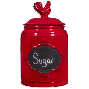 Crimson Kitchen Canister